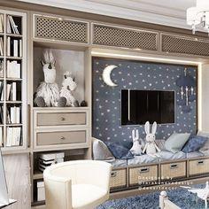 Este posibil ca imaginea să conţină: masă şi interior Boys Bedroom Themes, Cool Kids Bedrooms, Baby Bedroom, Bedroom Kids, Kids Rooms, House Arch Design, Luxury Nursery, Boys Room Design, Luxurious Bedrooms