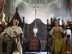 King Richard and Queen Anne in #TheWhiteQueen