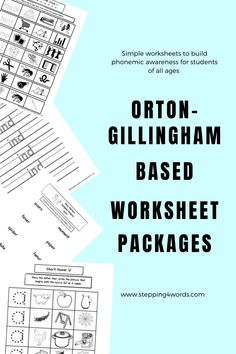 Distance Learning Worksheets