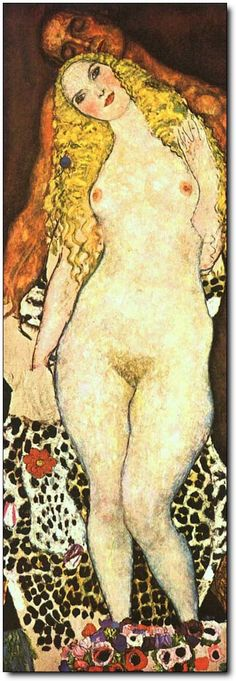 Adam and Eva (unfinished),1918 - Gustav Klimt
