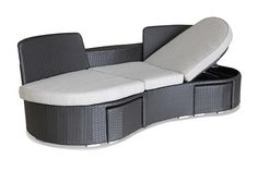 WOW Sofa Black Wicker - An indulgent, modern twist on our classic Jack & Jill love seat - it won't take you too long to figure out how we came up with the name for this outdoor lounger! The new WOW Outdoor Sofa Setting in Black is the perfect storm of form, function and style. This mild-mannered, curved 3 seater outdoor sofa is a stylish statement piece all on its own and adds a tailored finish to any balcony, patio or poolside. Add a dash of sunshine, a drop of wine - and the WOW sofa real…
