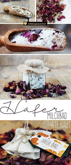 Alles Hafer oder was? Haferbad für eine zarte Haut Natural cosmetics DIY: Oats is the medicinal plant 2017 – Oats are good for the body and skin! With the homemade oat bath, the skin is silky smooth! Belleza Diy, Aloe Vera For Skin, Diy Beauté, Diy Shampoo, Homemade Cosmetics, Beauty Recipe, Diy Skin Care, Medicinal Plants, Natural Cosmetics