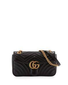GG Marmont Small Matelassé Shoulder Bag, Black