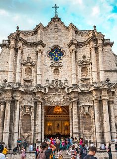 Landmarks and Local Culture in Havana, Cuba   Baroque Cathedral of the Virgin Mary of the Immaculate Conception