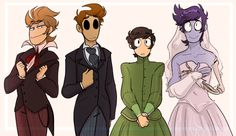 Matt is Emily from the corpse bride, edd is Victoria, tom is victor, and tord is the evil lord