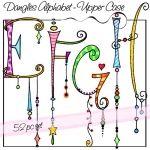 ♥♥ ~ Dangles Alphabet, Upper Case E F G H by Olivia and company. ~