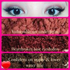 Younique. Pigments used are vulnerable, confident and heartbroken. Www.youniqueproducts.com/kaybrown