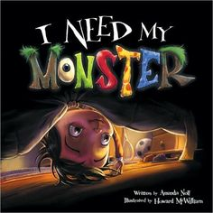 I Need My Monster by Amanda Noll: The perfect balance of giggles and shivers, this picture book relies on the power of humor over fear, appeals to a child's love for creatures both alarming and absurd, and glorifies the scope of a child's imagination... #Books #Kids