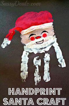 Santa Claus Handprint Christmas Craft