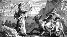 Fil:Foster Bible Pictures An Angel Met Balaam with a Sword. Angel Readings, Suffering In Silence, Bible Pictures, King David, Bible Words, Angel Art, Word Of God, Creative Art, The Fosters