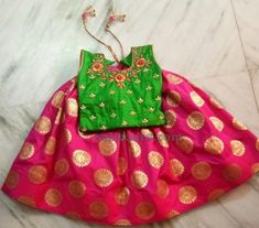 Source by vootla Blouses Kids Party Wear Dresses, Kids Dress Wear, Baby Girl Party Dresses, Kids Gown, Dresses Kids Girl, Kids Wear, Baby Lehenga, Kids Lehenga, Kids Frocks Design
