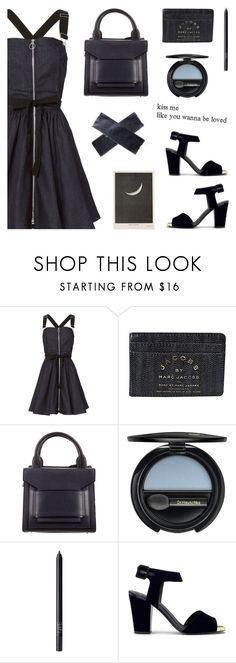 """Denim dress"" by deepwinter ❤ liked on Polyvore featuring Adam Selman, Marc by Marc Jacobs, Pierre Hardy, Dr.Hauschka, NARS Cosmetics and Giuseppe Zanotti"
