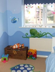Underwater theme bedroom