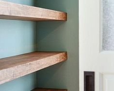 Walnut Floating Shelf Custom Length Depth and Finish Color | Etsy Rustic Wood Floating Shelves, Floating Shelf Hardware, Floating Bookshelves, Bookcase Shelves, Wood Shelves, Display Shelves, Shelving, Bar Shelves, Kitchen Shelves