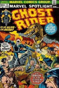 Marvel Spotlight #9 - Ghost Rider, cover by Mike Ploog