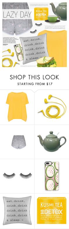 """Lazy Day"" by a-a-nica ❤ liked on Polyvore featuring Isolde Roth, FOSSIL, Hedi Slimane, Morphe, Casetify, Original Penguin, Kusmi Tea and Kate Spade"