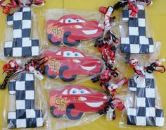 Lightning McQueen Birthday Sugar Cookies