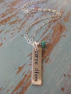 Carpe Diem  Seize the Day  Sterling Silver  by TakeFlightBoutique
