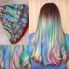 Crystal Hair Trends also I told my mom to let me paint my hair like this