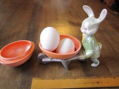 Vintage Easter Bunny Ceramic Egg Cup, Candy Cup, Easter Candy Bowl, Candy Dish on Etsy, £8.10