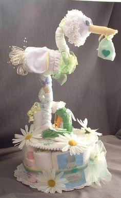 Stork Diaper Cake