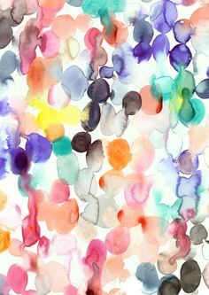 Watercolour Blobs - A4 Print ~ Emily Green