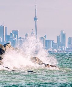 Waves in Lake Ontario off Toronto, ON Toronto Skyline, Toronto City, Downtown Toronto, Toronto Travel, Toronto Photography, Travel Photography, Urban Photography, Lifestyle Photography, Vacation Trips
