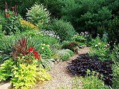 Garden pathways at this Pennsylvania vacation rental