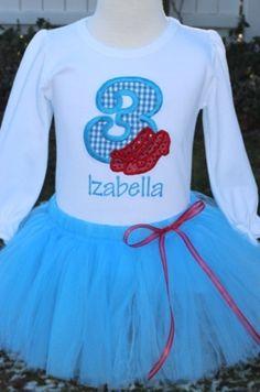 Cake smashing onesie (for party) | Personalized Wizard of Oz Dorothy Birthday Tutu Outfit. $54.50, via Etsy.