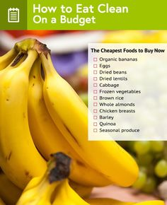 Clean Eating on a Budget: Your Grocery List