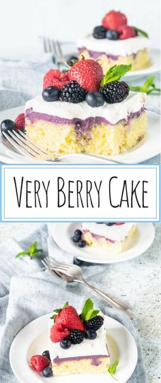 Very Berry Cake. Topped with Very Berry Frosting and Whipped… Very berry cake. Covered with Very Berry Frosting and Whipped Cream. Done with fresh berries! Best Cake Recipes, Cupcake Recipes, Baking Recipes, Cupcake Cakes, Dessert Recipes, Favorite Recipes, Cupcakes, Vanilla Sheet Cakes, Moist Vanilla Cake