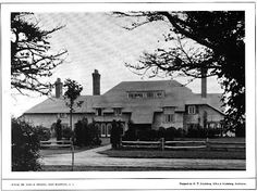 'Coxwould', the John F. Erdmann estate designed by Albro & Lindeberg c. 1912.