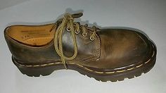 DR. MARTENS brown shoes size 4 leather England 4 eyelet #1414
