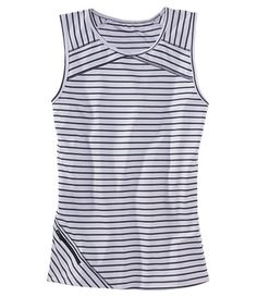 Strips on stripes tank top with zippered pocket $29