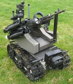The MAARS (Modular Advanced Armed Robotic System) platform can be fitted with MB240 machine gun and 40mm grenade launcher or non-lethal fired devices.
