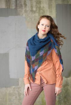 mason dixon knitting, design by Julia Farwell-Clay Eddie Redmayne Model, Make Your Own Card, Blue Candles, Blue Birthday, Wrap Pattern, Garter Stitch, Crochet Yarn, Fascinator, Plaid Scarf