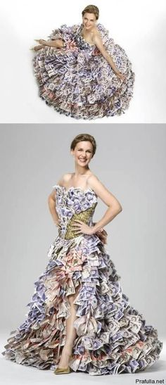 Money dress... real banknotes.