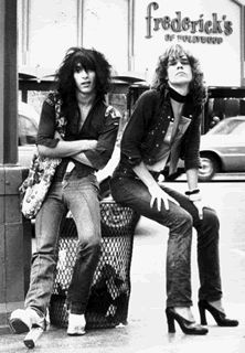 New York Doll days - Johnny Thunders and David Johansen... Wish I could have been around to see them!