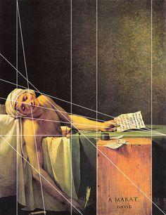 rocbo : Géométrie des peintres, Jacques Louis David, la mort de Marat