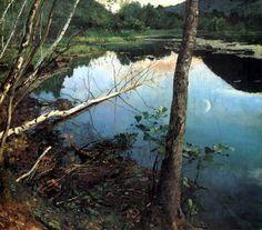 Eilif Peterssen (1852-1928): Summer night, 1886