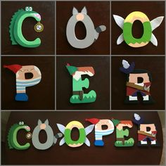 Peter Pan themed wood letters. Perfect for decorating little boy/girls room.  Sold on Etsy