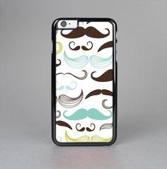 The Fashion Mustache Variety On White Skin-Sert for the Apple iPhone 6 Skin-Sert Case