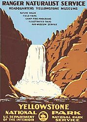 Yellowstone National Park Vintage Poster (Ranger Naturalist Service Series)