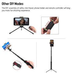 LDX-809 Suit Portable Telescopic Aluminum Alloy Selfie Stick Sales Online 1# - Tomtop Selfie Stick, Portable, Phone Holder, Aluminium Alloy, Telescope, Tech Accessories, More Fun, Corner, Technology