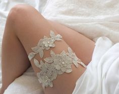 free ship ivory yellow lace garter bridal by ByMiracleBridal