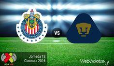 Chivas vs Pumas, Jornada 12 del Clausura 2016 ¡En vivo por internet! - https://webadictos.com/2016/04/03/chivas-vs-pumas-j12-clausura-2016/?utm_source=PN&utm_medium=Pinterest&utm_campaign=PN%2Bposts