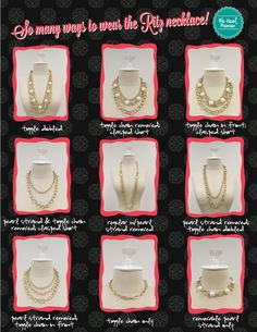 So many ways to wear the Ritz necklace!  Increase the value of a piece by showing off its versatility!  ~ #PremierDesigns jewelry #weheartpremier#WeHeartPremier