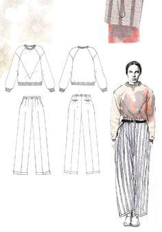 Fashion Sketchbook - fashion illustration & flat drawings; fashion portfolio // Emma Berry