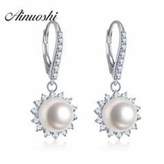 Aooaz Silver Material Necklace Women Girls Single Round Pearl Pendant Necklaces White Wedding 40CM