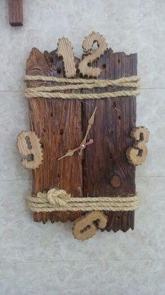 Best home decoratie wood inspiration 68 Ideas Rustic Wall Clocks, Wooden Clock, Wooden Diy, Wooden Projects, Wood Crafts, Diy And Crafts, Diy Clock, Clock Decor, Natural Home Decor